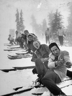 1942, Timberline Lodge Ski Club Party ~ Ralph Morse