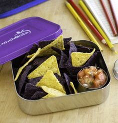LunchBots UNO Purple - Eco Friendly Stainless Steel Lunch Container LunchBots Uno Stainless Steel Food Containers are great for packing a sandwich, sushi, burrito—or your other favorite meals to go. Their retro look makes food fun and appetizing, encouraging even finicky eaters to finish lunch.