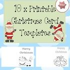 """My kids love making Christmas cards for their family and friends using these blank cards.   Designed by """"Clever Classroom.""""    Free!"""