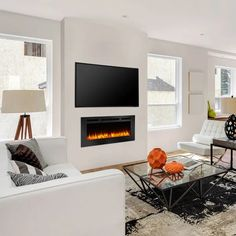Wall Mounted Fireplace, Tv Above Fireplace, Linear Fireplace, Wall Mount Electric Fireplace, Small Fireplace, Bedroom Fireplace, Living Room With Fireplace, Gas Fireplace, Fireplaces With Tv Above
