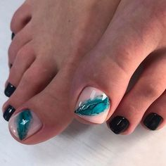 Christmas Nail Designs - My Cool Nail Designs Toe Nail Color, Toe Nail Art, Nail Colors, Pretty Nail Designs, Toe Nail Designs, Feet Nails, My Nails, Feet Nail Design, Classy Nail Art