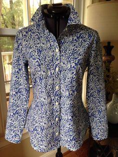 "Sewaholic Granville shirt in Liberty cotton dobby ""Lagos Laurel"""