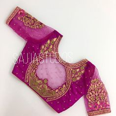 All Ethnic Customization with Hand Embroidery & beautiful Zardosi Art by Expert & Experienced Artist That reflect in Blouse , Lehenga & Sarees Designer creativity that will sunshine You & your Party Worldwide Delivery. Cutwork Blouse Designs, Wedding Saree Blouse Designs, Pattu Saree Blouse Designs, Simple Blouse Designs, Stylish Blouse Design, Blouse Neck Designs, Lehenga Blouse, Traditional Blouse Designs, Designer Blouse Patterns