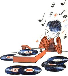 "From Vintage Kids' Book ""I Know a Magic House"" Vinyl Music, Vinyl Art, Vinyl Records, Music Love, Good Music, Music Is Life, Vintage Records, Vintage Children's Books, Vintage Kids"