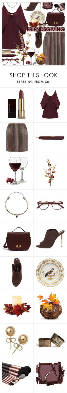 """Gather 'Round: Friendsgiving"" by aleks-g on Polyvore featuring Kevyn Aucoin, Bailey 44, Emilia Wickstead, Libbey, Eddie Borgo, EyeBuyDirect.com, Mulberry, Tom Ford, Richard Ginori and Improvements"