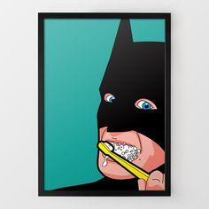 If batman has time to brush, so do you!  Dental Hygiene - Secret Life of Superheroes from Firebox.com