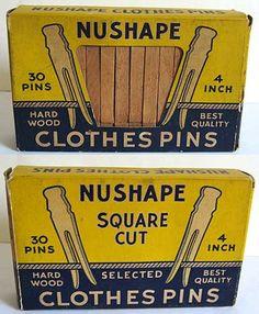 Nushape clothespins