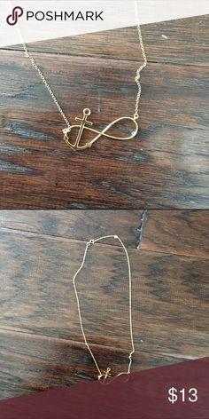 Anchor Infinity Sign Necklace Very simple and elegant. Only been worn a few times! Super pretty accent to any outfit Jewelry Necklaces