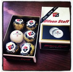 Check out this throwback Wilson Staff golf ball packaging from the '50s. It looks like a chocolate wrapper!