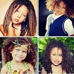 Natural curly hair baby
