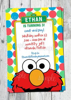 Elmo birthday invite elmo birthday invitation sesame street elmo birthday invitation printable sesame street by partyprintouts 1300 solutioingenieria Choice Image
