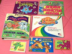Awesome 80's sticker albums!!