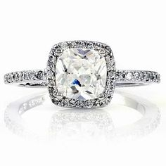 Emitations Liezels Engagement Ring Cushion Cut CZ $80 | More here: http://mylusciouslife.com/photo-galleries/bling-fling/