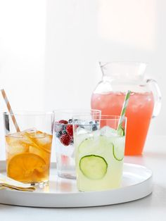 Thirsty? This go-to guide for summer sipping is a refreshing read! drinks recipes  (Alcohol-free option)