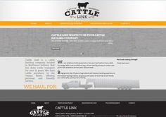 Cattle Link – offering a new way to schedule cattle to be hauled, grey, orange, black, website design, custom logo design, map of united states, modern website design