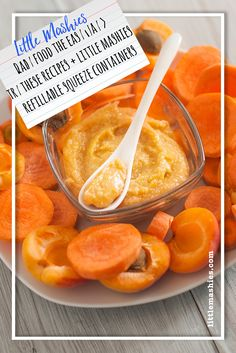 Little Mashies Carrot Apricots & Rice Puree - Baby food the easy way recipes and baby food pouches www.littlemashies.com