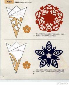 Verschiedene Schneeflocken basteln - Schablonen und Mustern-dekoking-com-7