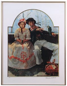 This is one of my favorite Norman Rockwell painting- Sailor and Girl