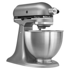 I want all the things in my kitchen to be glass or stainless steel! KitchenAid Classic 4.5 Qt Stand Mixer