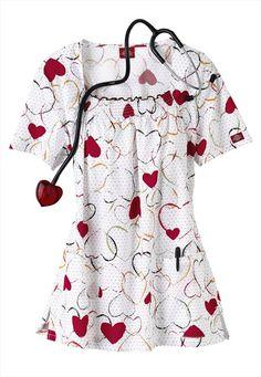 Dickies Love Is All print scrub top. Suit Fashion, Work Fashion, Medical Scrubs, Nursing Scrubs, Scrubs Pattern, Stylish Scrubs, Cute Scrubs, Scrubs Uniform, Scrub Tops