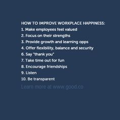Workplace Happiness: Why Should Your Boss Care? (PICTURES) - via Good.Co
