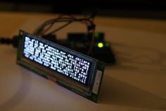 OLED display module, Noritake OLED module + Arduino UNO