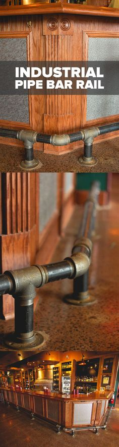 Give your home bar, kitchen island, tavern, pub, lounge, or restaurant, a trendy, urban accent with Industrial Black Pipe bar foot rail. The handsome, oil-rubbed finish of the black steel pipe is less formal but no less stylish than high-polish varieties, making it the ideal rail material for bar owners and DIY homeowners looking to create a modern, gritty aesthetic. And like all bar rails, they provide thoughtful comfort to any seated guest.