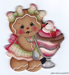 HP Gingerbread with Sundae Fridge Magnet | eBay