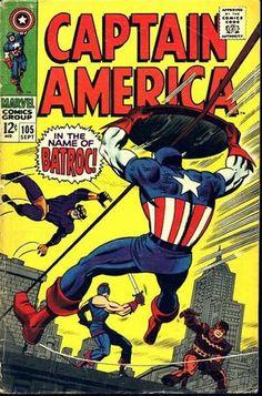 Captain America Vol 1 105. Por Jack Kirby y Dan Adkins. #CapitánAmérica #JackKirby