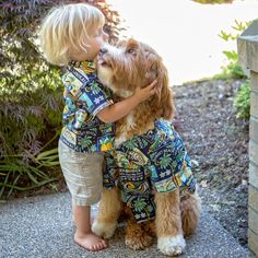 Reagan the Australian Labradoodle Dog with his Little Toddler Buddy Cuddle-Time - Aww, so Cute! Dogs And Kids, Animals For Kids, Dog Love, Puppy Love, Cute Kids, Cute Babies, Funny Animals, Cute Animals, Adoption Stories