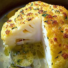 Whole Roasted Cauliflower With Butter Sauce Whole Roasted Cauliflower Recipe – A lovely LOW CARB side or a VEGETARIAN main course! Crisp, tender, and SO delicious, this is your new favorite way to eat cauliflower. If you need a printer-frien… Vegetable Recipes, Vegetarian Recipes, Cooking Recipes, Healthy Recipes, Easy Recipes, Keto Recipes, Free Recipes, Delicious Recipes, Online Recipes