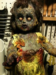 HF member: Great looking dolls here! Heres a zombie doll I just finished last weekend. This was the first doll Ive done.