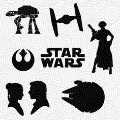 Cricut Template Star Wars no fill PNG Files - Cutting Machines - scrapbooking…