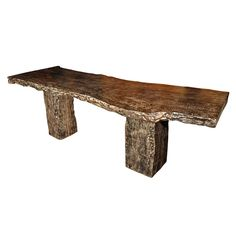 """Asia  21st Century  Ebonized Lychee Wood Console with One Piece Top Construction. 32""""H x 35""""D x 8.6'W."""