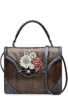 Snakeskin Tote with Embellishment detail