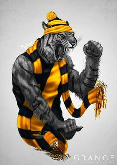 Richmond tigers Richmond Afl, Richmond Football Club, Football Team Logos, Sports Logos, Tiger Tattoo, Pansies, Yellow Black, Greece, Harry Potter