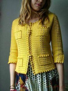 Crochet une jolie veste façon coco chanel, je vous propose cette jolie veste, vous trouverez toutes les explications et les schémas