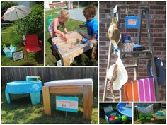 Sprinkler Party Water Stations! Perfect ideas to keep the littles entertained in the backyard during a heat wave!