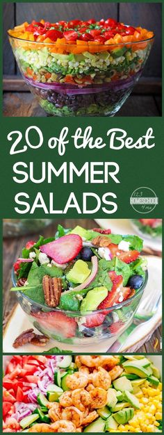 20 BEST Summer Salad Recipes perfect for eating healthy this summer with a variety of yummy, unique salad recipes summer recipes summer recipes abendessen rezepte recipes recipes dessert recipes dinner Green Salad Recipes, Salad Recipes For Dinner, Summer Salad Recipes, Healthy Summer Recipes, Healthy Salad Recipes, Healthy Snacks, Vegetarian Recipes, Recipes For Salads, Dinner Salads Healthy