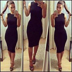 Elegant, black dress Must have Dress Skirt, Dress Up, Bodycon Dress, Tight Dresses, Sexy Dresses, Fitted Dresses, Club Dresses, Mode Inspiration, Fashion Inspiration