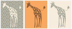 Free elephant and giraffe printable
