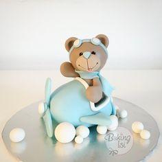 Fondant Teddy, Teddybär, Bär, Flugzeug, plane, bear