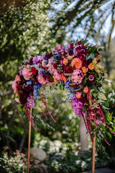 The lush jewel toned floral copper arch designed by Los Angeles florist Winston and Main features peonies, roses, dahlias, orchids, amaranthus and more! wedding arch Moody Jewel Tone Wedding at The Houdini Estate Marie's Wedding, Wedding Themes, Floral Wedding, Wedding Bouquets, Dream Wedding, Wedding Decorations, Wedding Ideas, Decor Wedding, Wedding Cakes