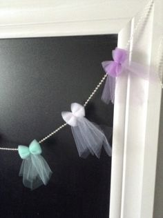 Hey, I found this really awesome Etsy listing at https://www.etsy.com/listing/268073230/tulle-bow-garland-bow-banner-baby-shower