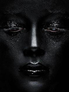 Photographer Sophie Dreiler and Make up artist Louise Bruun created this black on black beauty story for SLAIIB.