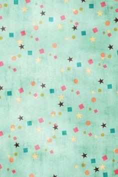 Confetti | Pastel | Stars | Wallpaper