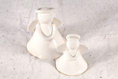 Ceramic Angels White Winged Angels Halos White Handbuild Stoneware Ceramics Pottery. $13,00, via Etsy.