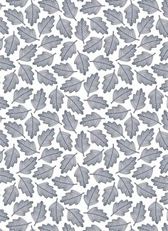 Light gray leaf pattern.