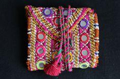 cartera etnica kuchi afghan pouch purse gypsy por azulcasinegro