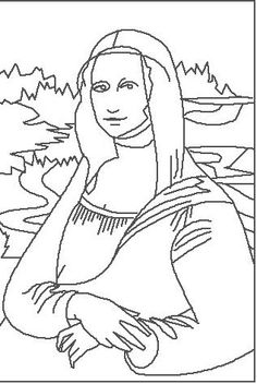 Enchanted Learning :da Vinci: Mona Lisa coloring page Mona Lisa, Enchanted Learning, Culture Art, Thinking Day, Free Printable Coloring Pages, Italian Artist, Art Plastique, Colouring Pages, Elementary Art